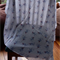 Large muslin baby wrap / swaddle / receiving blanket - Blue Monkeys!